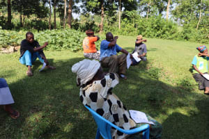 The Water Project: Musango Community, Dawi Spring -  Practicing The Proper Way To Handle A Cough Or A Sneeze