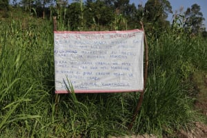 The Water Project: Musango Community, Dawi Spring -  The Chart At The Waterpoint