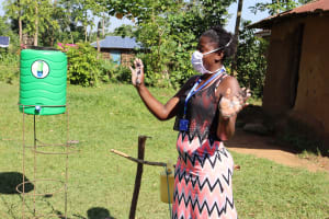 The Water Project: Musango Community, Dawi Spring -  Demonstrating The Ten Steps Of Handwashing