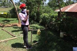 The Water Project: Mwituwa Community, Shikunyi Spring -  Highlighting Importance Of Using Soap In Handwashing