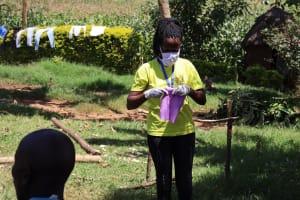 The Water Project: Mwituwa Community, Shikunyi Spring -  Mask Making Practical At The Training