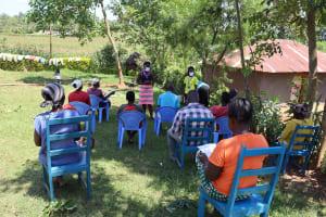 The Water Project: Mwituwa Community, Shikunyi Spring -  Ongoing Covid Sensitization
