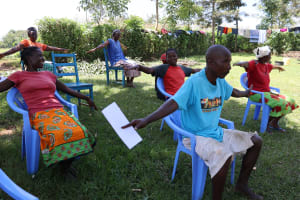 The Water Project: Mwituwa Community, Shikunyi Spring -  Social Distancing