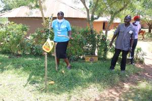 The Water Project: Mwituwa Community, Shikunyi Spring -  Setting Up A Handwashing Station