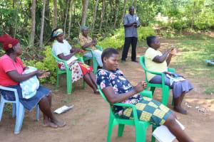 The Water Project: Mwituwa Community, Nanjira Spring -  Following On Handwashing Steps Training