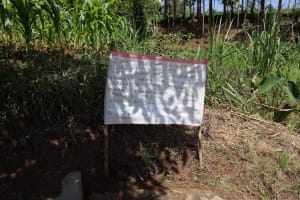 The Water Project: Mwituwa Community, Nanjira Spring -  Installed Reminder Chart At The Spring