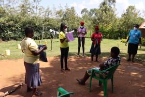 The Water Project: Mwituwa Community, Nanjira Spring -  Mask Making Process