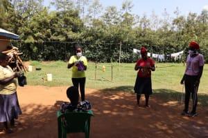 The Water Project: Mwituwa Community, Nanjira Spring -  Mask Making