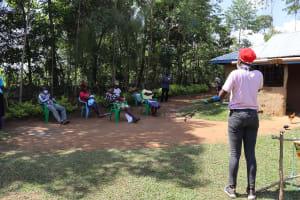 The Water Project: Mwituwa Community, Nanjira Spring -  Ongoing Covid Sensitization