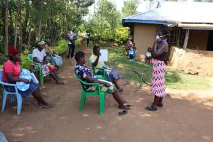 The Water Project: Mwituwa Community, Nanjira Spring -  Training On Proper Mask Wearing