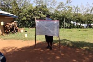 The Water Project: Mwituwa Community, Nanjira Spring -  Use Of Reminder Charts At The Training