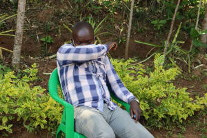 The Water Project: Mwituwa Community, Nanjira Spring -  Virus Spread Reduced By Sneezing And Coughing Into Elbow