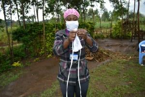 The Water Project: Burachu B Community, Shitende Spring -  Cloth Mask Making