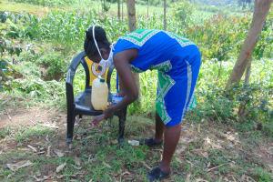 The Water Project: Handidi Community, Chisembe Spring -  Handwashing