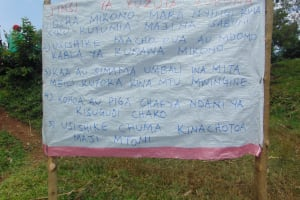 The Water Project: Handidi Community, Chisembe Spring -  A Reminder Chart At The Spring