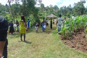 The Water Project: Handidi Community, Chisembe Spring -  The Social Distance Test In Action