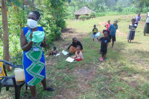 The Water Project: Handidi Community, Chisembe Spring -  Ensure A Small Curve In Your Mask For Comfort