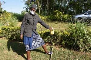 The Water Project: Esembe Community, Chera Spring -  Demonstrating How To Use The Tippy Tap