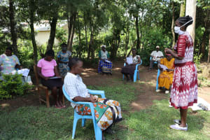 The Water Project: Musiachi Community, Thomas Spring -  Mrs Wagaka Leading A Training