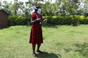 The Water Project: Muyundi Community, Baraza Spring -  A Complete Hand Sewn Mask Ready For Use