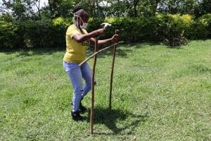 The Water Project: Muyundi Community, Baraza Spring -  Ms Georgina Building A Tippy Tap Handwashing Station
