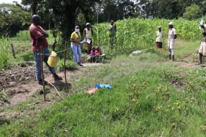 The Water Project: Muyundi Community, Ngalame Spring -  Covid Prevention Training
