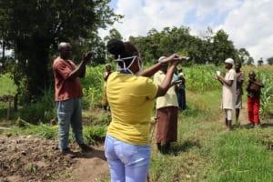 The Water Project: Muyundi Community, Ngalame Spring -  The Handwashing Exercise