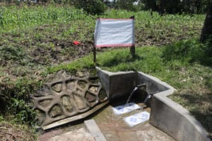 The Water Project: Muyundi Community, Ngalame Spring -  The Reminder Chart At The Waterpoint