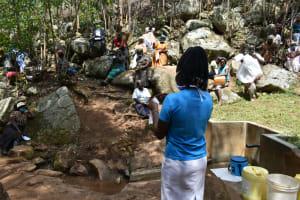 The Water Project: Upper Visiru Community, Wambosani Spring -  Covid Prevention Training