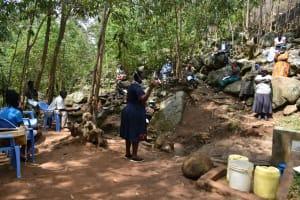 The Water Project: Upper Visiru Community, Wambosani Spring -  Covid Sensitization Training