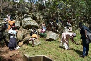 The Water Project: Upper Visiru Community, Wambosani Spring -  Handwashing Practicals