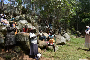 The Water Project: Upper Visiru Community, Wambosani Spring -  Handwashing Session