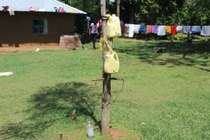 The Water Project: Musango Community, Ndalusia Spring -  Sample Handwashing Stations Setup In The Community