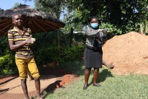The Water Project: Mukangu Community, Lihungu Spring -  Handwashing Steps