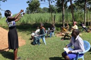 The Water Project: Mukangu Community, Lihungu Spring -  Mask Making