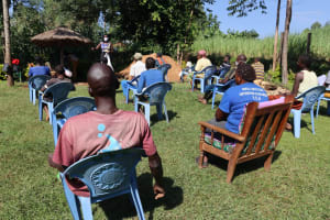 The Water Project: Mukangu Community, Lihungu Spring -  Socially Distanced Participants