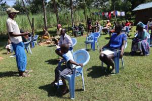 The Water Project: Mukangu Community, Lihungu Spring -  Village Elder Addresses Training