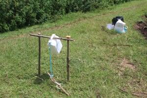 The Water Project: Lukova Community, Wasike Spring -  A Handwashing Station