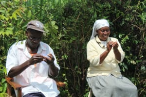 The Water Project: Lukova Community, Wasike Spring -  Clean Hands Keep Virus Away