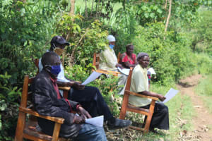 The Water Project: Lukova Community, Wasike Spring -  Community Members Following The Training