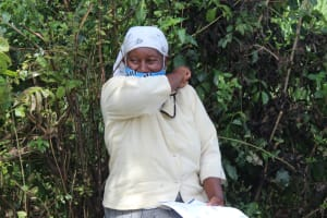 The Water Project: Lukova Community, Wasike Spring -  Elbow Cough Demonstration