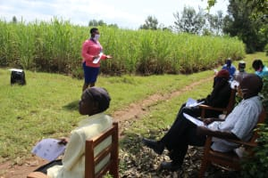 The Water Project: Lukova Community, Wasike Spring -  Training Session