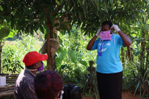 The Water Project: Emulakha Community, Nalianya Spring -  A Complete Mask Made From Simple Local Material