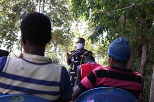 The Water Project: Sambuli Community, Nechesa Spring -  Facilitator Conducting Training