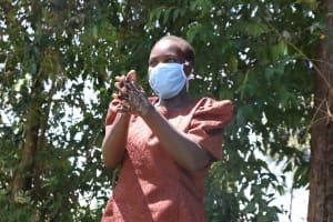 The Water Project: Sambuli Community, Nechesa Spring -  Following Handwashing Steps