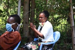 The Water Project: Sambuli Community, Nechesa Spring -  Following On Handwashing Steps
