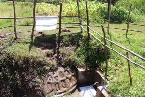 The Water Project: Sambuli Community, Nechesa Spring -  Installed Reminder Chart At The Spring