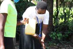 The Water Project: Sambuli Community, Nechesa Spring -  Wash Hands With Soap And Runningwater