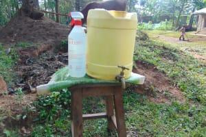 The Water Project: Shihungu Community, Shihungu Spring -  A Handwashing Station Installed At The Community