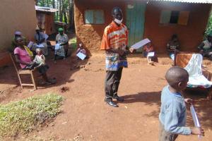 The Water Project: Shihungu Community, Shihungu Spring -  Community Member Reacting To The Training